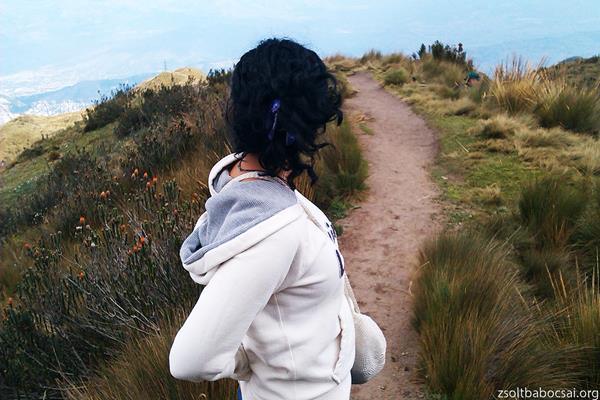 Climbing Pichincha