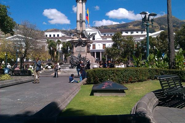 Quito Plaza Grande in Old Town