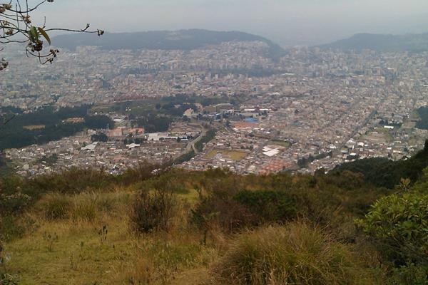 View over Quito from Pichincha