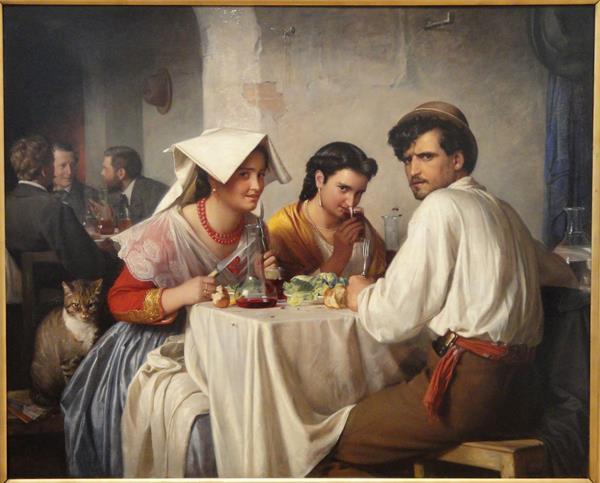 In a Roman Osteria - Carl Heinrich Bloch.