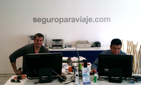 William Encalada CEO of seguroparaviaje.com at the company's headquarters in Quito